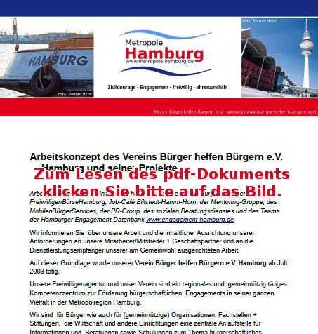 Arbeitskonzept BÜRGER-HELFEN-BÜRGERN e.V. HAMBURG
