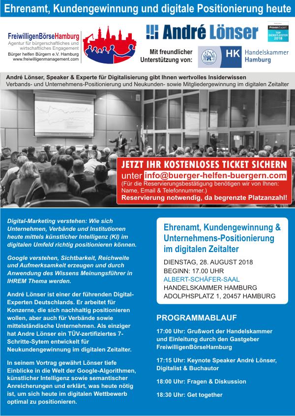 Ehrenamt, Kundengewinnung und digitale Positionierung Handelskammer Hamburg