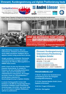 Vortrag Ehrenamt, Kundengewinnung und digitale Positionierung mit Andrè Lönser in der Handelskammer Hamburg