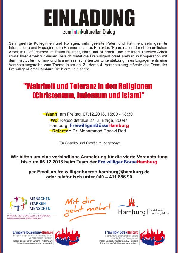 Wahrheit und Toleranz in den Religionen (Christentum, Judentum, Islam)