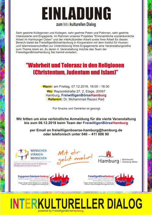 Interkultureller Dialog Hamburg: Wahrheit und_Toleranz in den Religionen