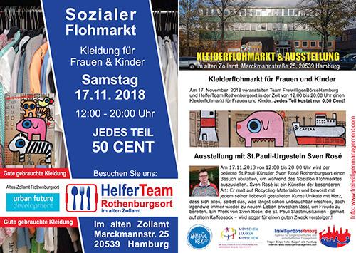 Sozialer Kleider-Kultur-Flohmarkt in Rothenburgsort