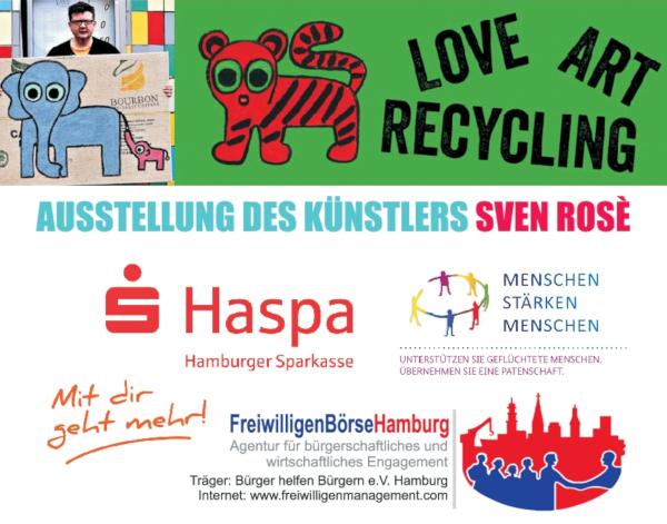 Künstler Sven Rosè präsentiert seine Werke – Team FreiwilligenBörseHamburg ist dabei!
