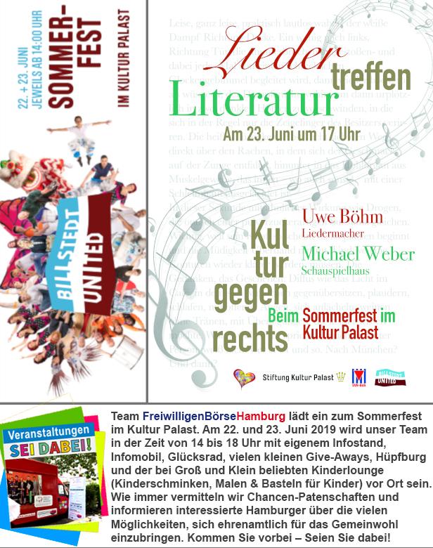 FreiwilligenBörseHamburg beim Sommerfest im Kultur Palast - Sei dabei!