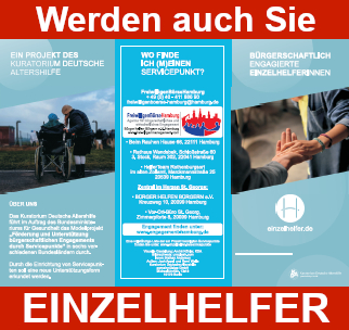 Werden Sie Einzelhelfer in Hamburg