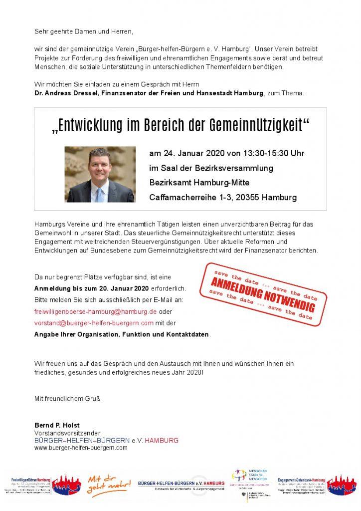 Dr. Andreas Dressel: Entwicklung im Bereich der Gemeinnützigkeit
