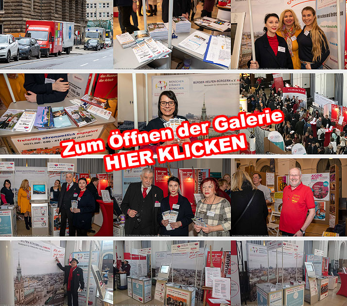 Bürger helfen Bürgern e.V. am eigenen Infostand auf der AKTIVOLI FreiwilligenBörse in der Hamburger Handelskammer
