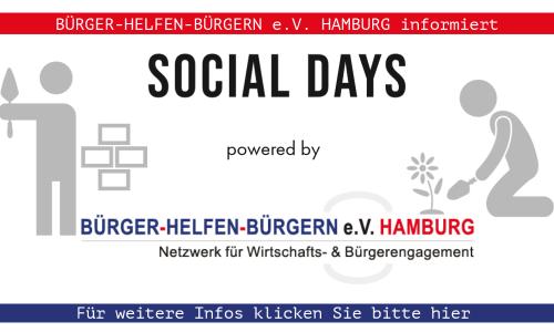 SOCIAL DAYS: Bürger helfen Bürgern e.V. Hamburg informiert