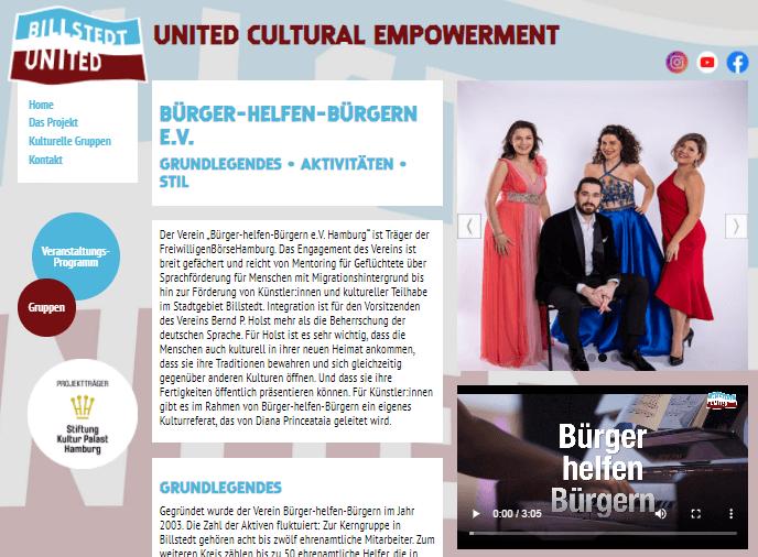 Bilstedt United - Bürger helfen Bürgern e.V. - Kulturpatenschaften