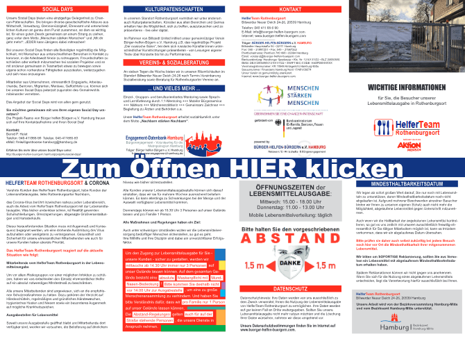 Flyer HelferTeam Rothenburgsort